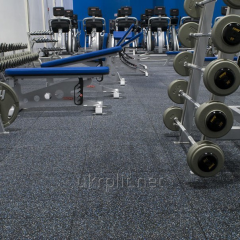 Rubber floor covering for weightlifting, a