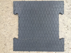 Rubber mat for stables, cowsheds, pigsties
