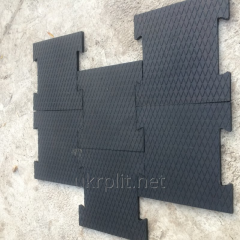 Rubber rugs for cows