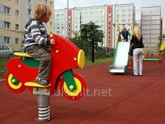 Плитка от УкрПлит травмобезопасная антискользящая резиновая для детских площадок
