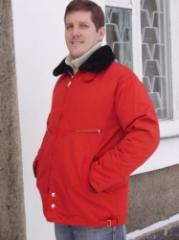 Куртка лётная с меховым воротником