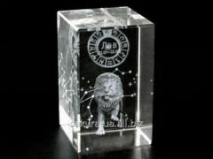 The laser hologram in crystal / Horoscope /
