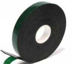 Adhesive tape bilateral 12kh0.8kh10m (black).
