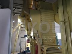 Granulating line (pelleting),  production of...