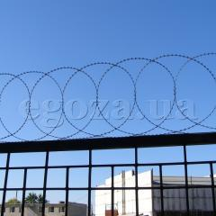 Системы охраны периметра, Плоский барьер безопасности ПББ диаметр 600 мм из колючей проволоки Концертина