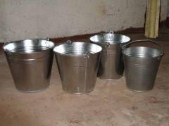 Bucket galvanized one-sutural 5 l