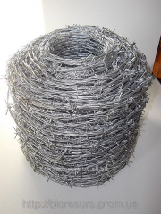 The bibasic barbed wire zinced 2,5mm