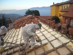 Warming of the rooftop polyurethane foam