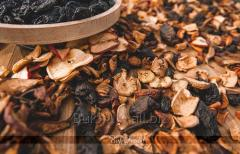 Dried and cured fruit (prunes, pear, apple). fruit