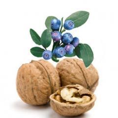 Орехи грецкие,  черника
