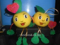 Валентинки яблука до дня закоханих (ко дню святого Валентина)
