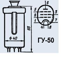 Генераторный триод ГУ-50, ГУ50, GU50, GU-50