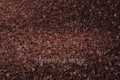 Splinters of dark chocolate