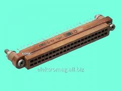 Соединитель прямоугольный плоский МРН44-1-розетка, код товара 21250