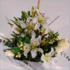 Цветы искусственные (эустома, тюльпан, гладиолус,