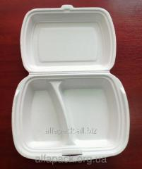 Boxing for polystyrene lunches (2 sections)