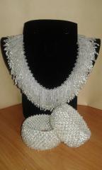 Festive set (necklace and bracelets)