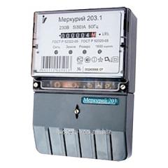 Electric power meter Mercury 203 single-phase