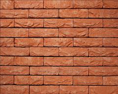 Tile of manual molding of 30 Orange