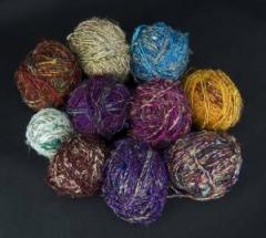 Wool for a fulling sari banana silk