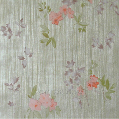 Paper wall-paper 755-09, with coral flowers