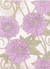 Paper wall-paper 758-05, with lilac flowers