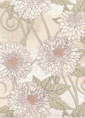 Paper 758-13 with beige flowers