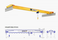 Electric crane girder supporting Dimet, managing