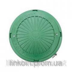 Люк легкий с замком нагрузка до 3т зеленый Тип Л