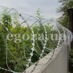 Barrier spiral Fidget. Barbed wire of
