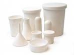Laboratory glassware from quartz, porcelain