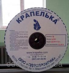 Drop tape of Krapelk, 15 cm, 1,0 l, h, 2500