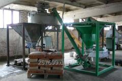Flat-belt conveyor doser of cyclic type, mixers,
