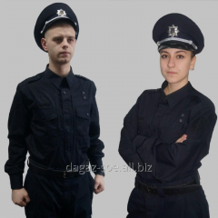 Police costume of the new sample
