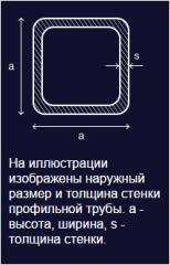 Труба профильная сварная квадратная, наружный