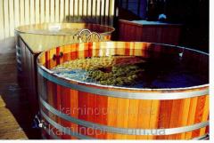 Bochka-Kupel for a sauna and a bath of Blumenberg