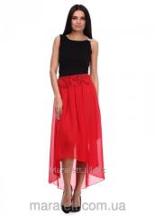 Skirt Asymmetry, female from chiffon, Model No.