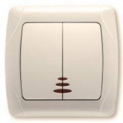 Выключатель двойной с подсветкой VI-KO CARMEN