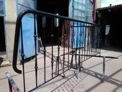 Handrail from metal