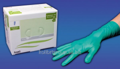 Powder free synthetic surgical gloves Ansell Derma