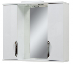 Зеркало в ванную Laura-85 с двумя шкафчиками