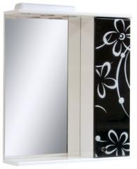 Зеркало в ванную Ромашка на черном
