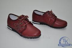 Туфли для девочки Happy Keni цвет красный кожаные