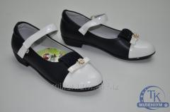 Туфли для девочки Happy Keni цвет синий/белый