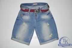 Джинсовые шорты M Denim бойфренды женские с поясом