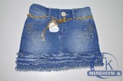 Юбка джинсовая для девочки возраст от 7 до 10 лет