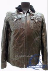 NURCINI куртка мужская кожаная с мехом 198