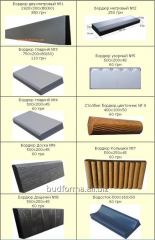 Forms for manufacture curbs