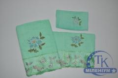 Набор махровых полотенец из 3-х предметов (