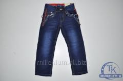 Брюки джинсовые для мальчика на флисе возраст от 4